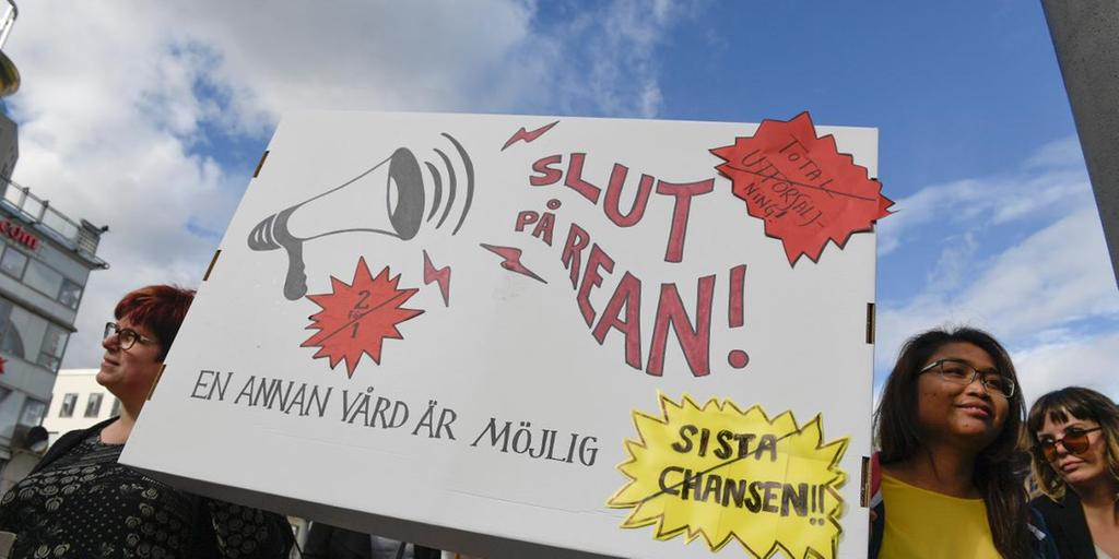 demonstration vårdpersonal